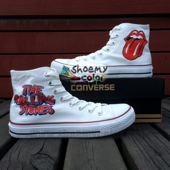 3a075e15bfd2 The Rolling Stones Hand Painted Converse Shoes by elleflynn on ...