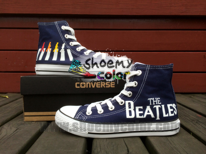 d128efb83bfba9 The Beatles Converse Canvas Hand Painted Shoes by elleflynn on ...