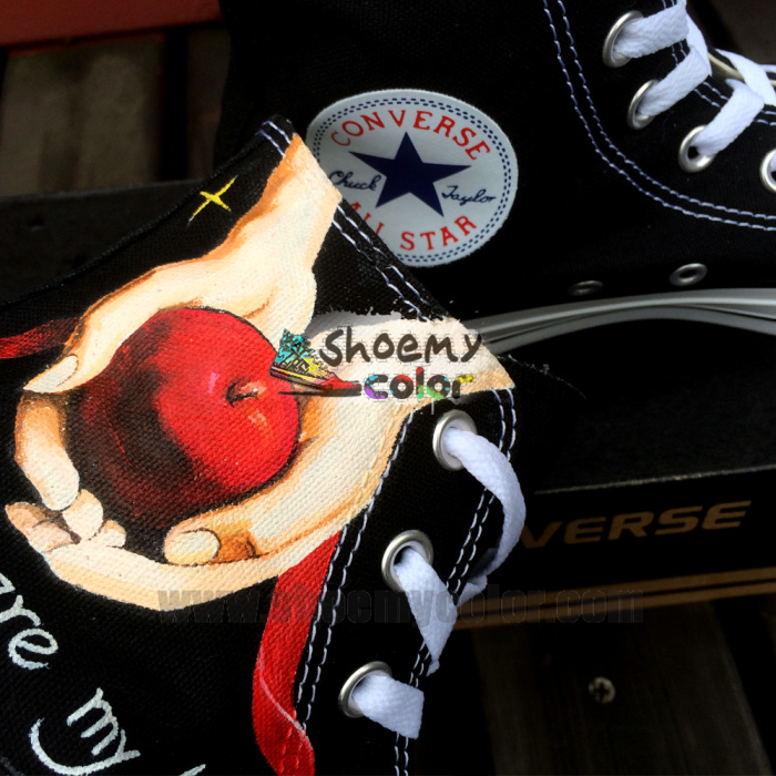 hand painted converse by elleflynn