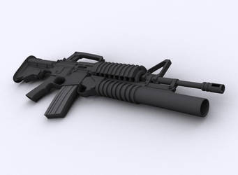 the M203 from scarface by russianmike