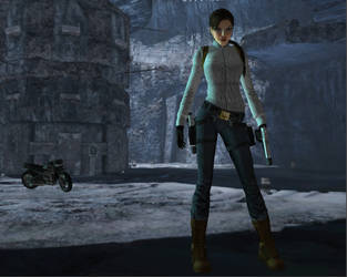 Lara in Odin's Hall by spuros12