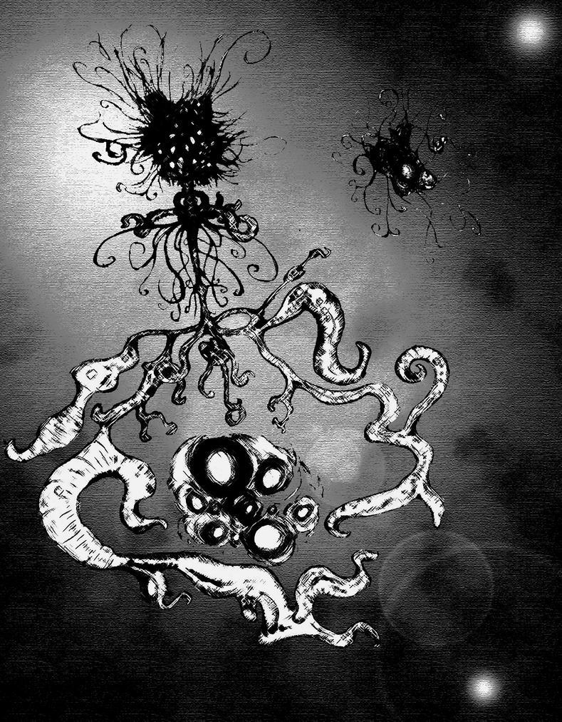 Azathoth and Yog-Sothoth by Bioteknos