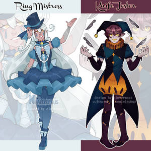 (closed) FLAT SALE circus themed adopts