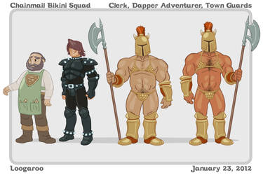 Chainmail Bikini Squad ModelSheet - Secondaries by Aphismet