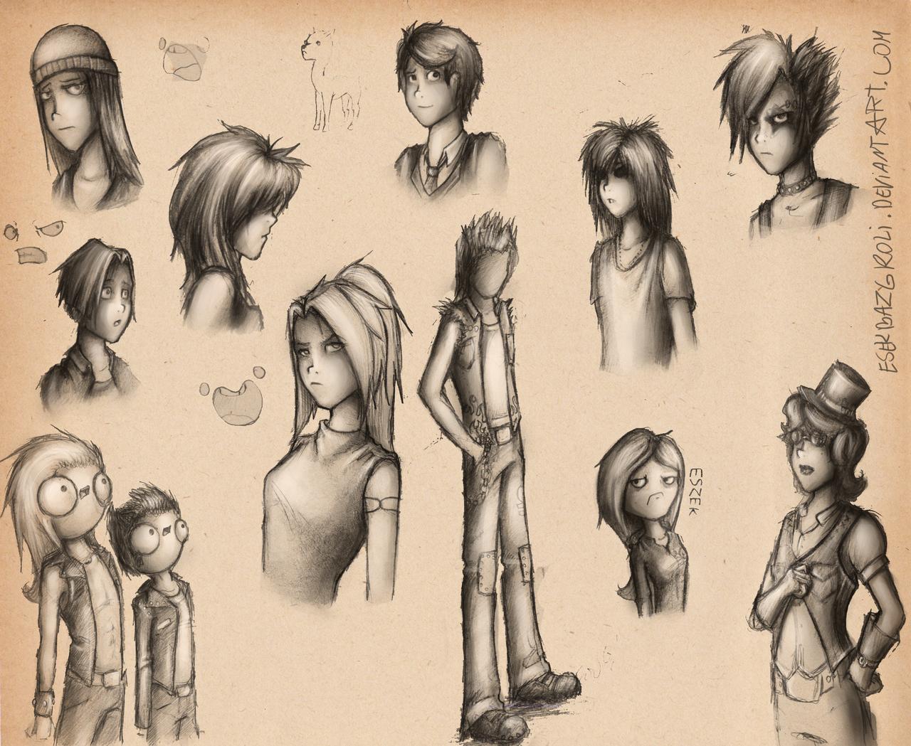 Sketch dump #1 by EsekBazgroli