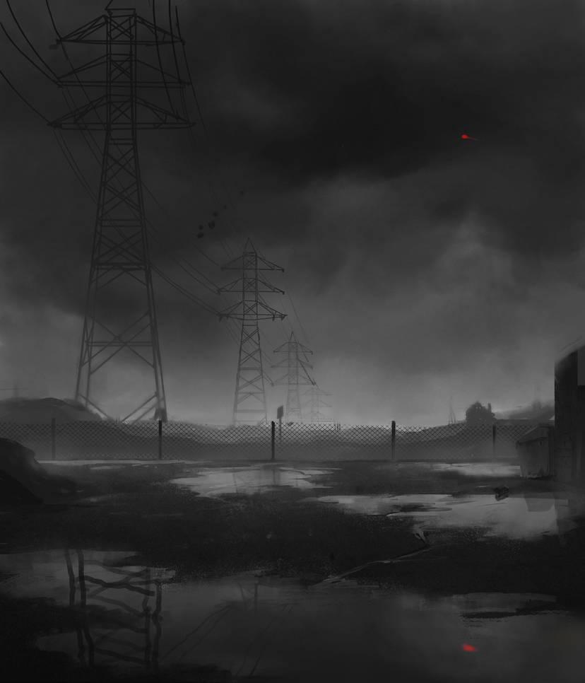 Transmission towers by MY-B0Y