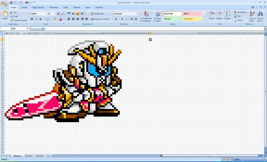 Gundam Excel by Klunker-Decepticon