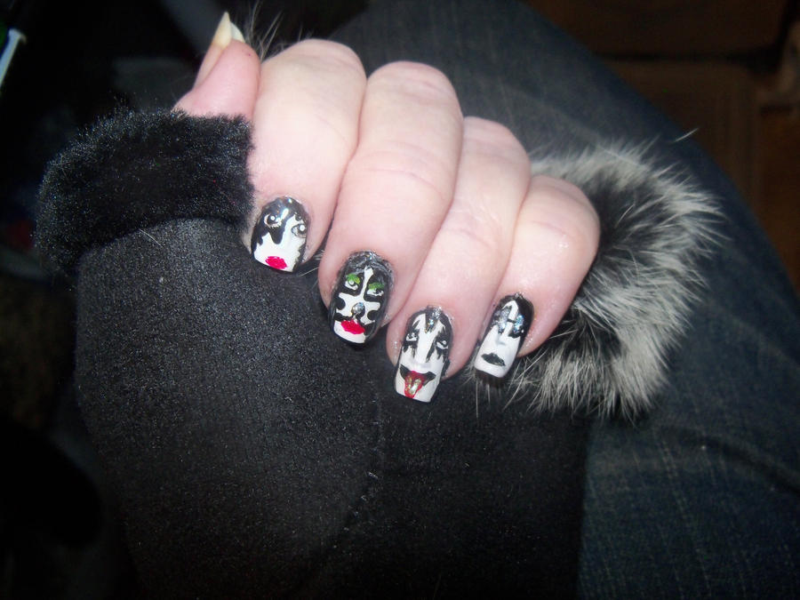 KISS Nail Art by Crowmistress on DeviantArt