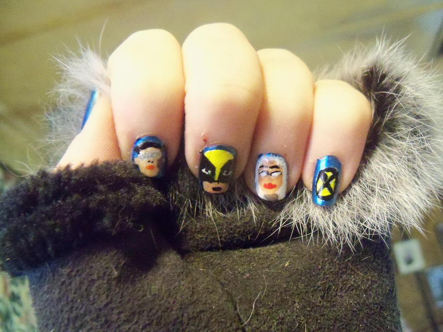 X Men Nail Art By Crowmistress On Deviantart Maxicub