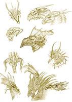 Dragon anatomy- head study by turel