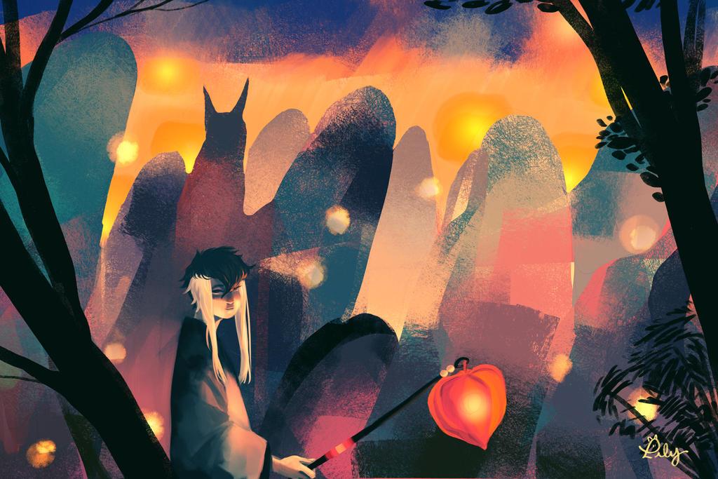 Lantern Parade by Lilybyte