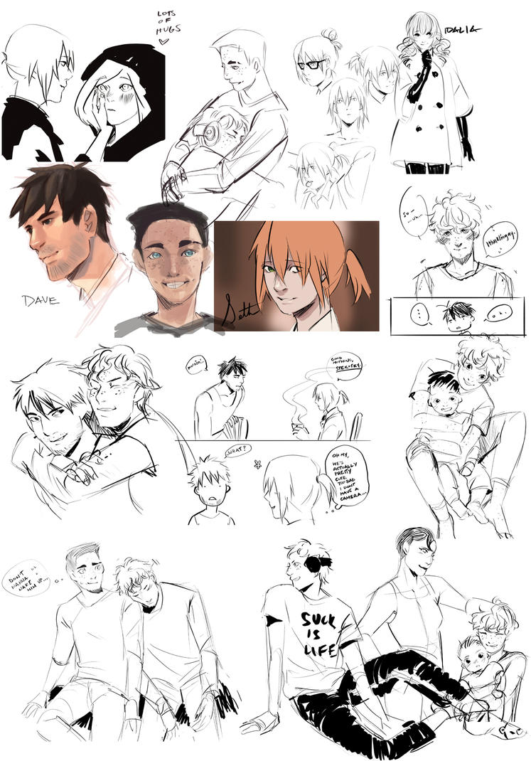 D2D Sketchdump 1 by Lilybyte