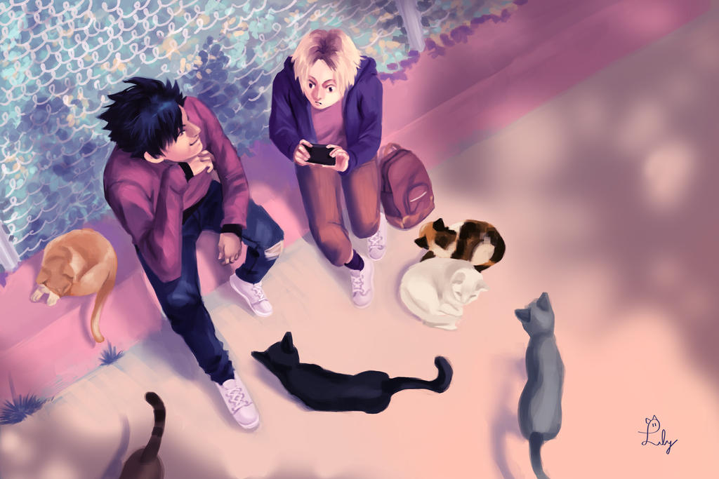 Cat Watching by Lilybyte