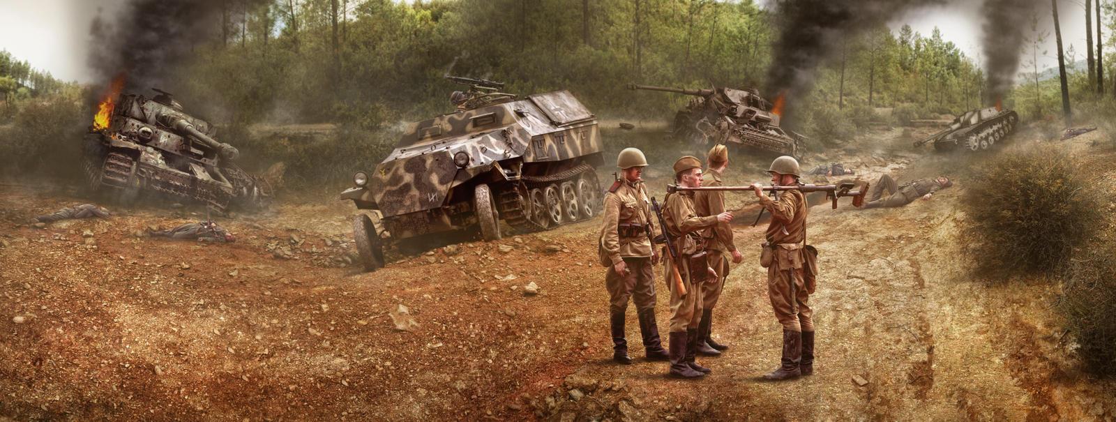 Фотоработы Дмитрия Лаудина на тему Второй Мировой
