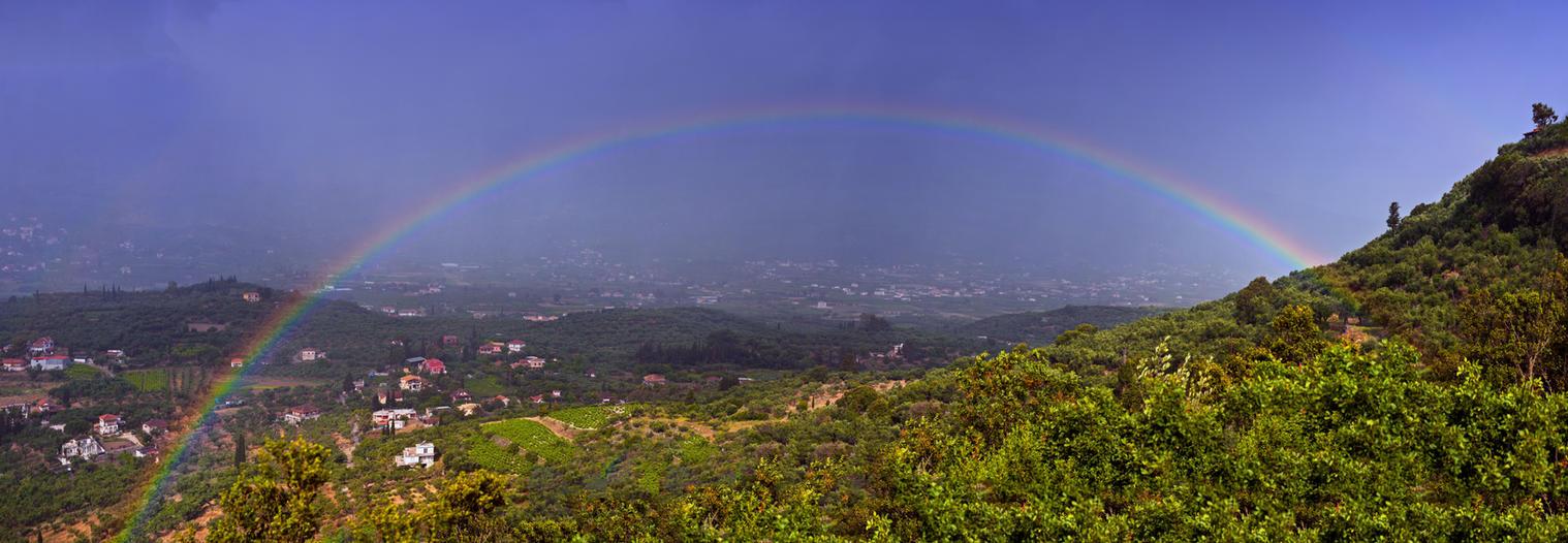 Rainbow over Zakynthos by fly10