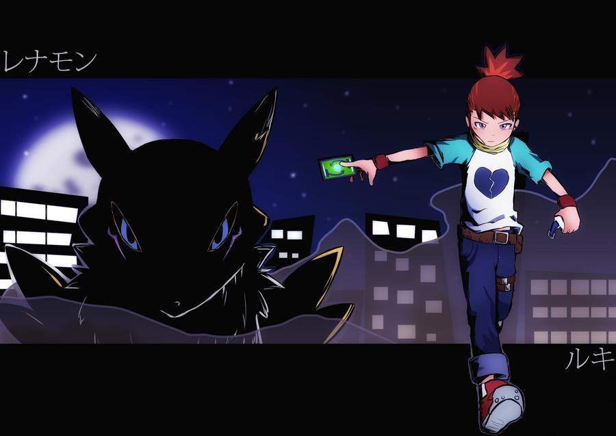 Ruki and Renamon by saurers123