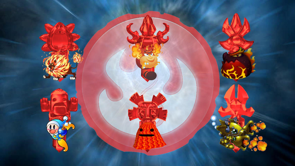 Kirby Foes As Skylanders Trap Team Fire Villains By ...
