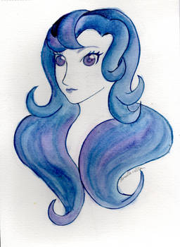 Macaria in purples and blues
