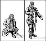 Soldiers with Balaclavas