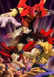 Dragon Akira Death Evangelion by Yaguete