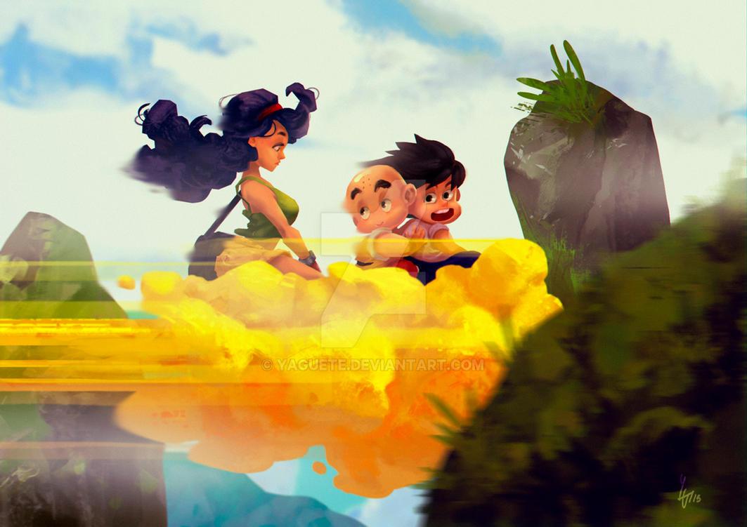 Dragon Ball - Cloud trip by Yaguete