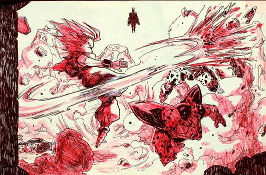 Inktober: Day 14 - Dragon Ball Z: L'Appel du Desti