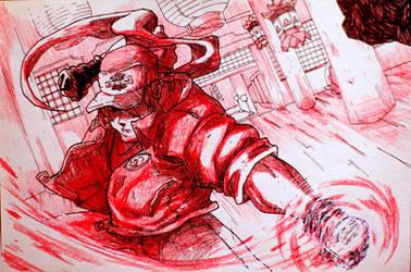 Inktober: Day 19 - Fatal Fury by Yaguete
