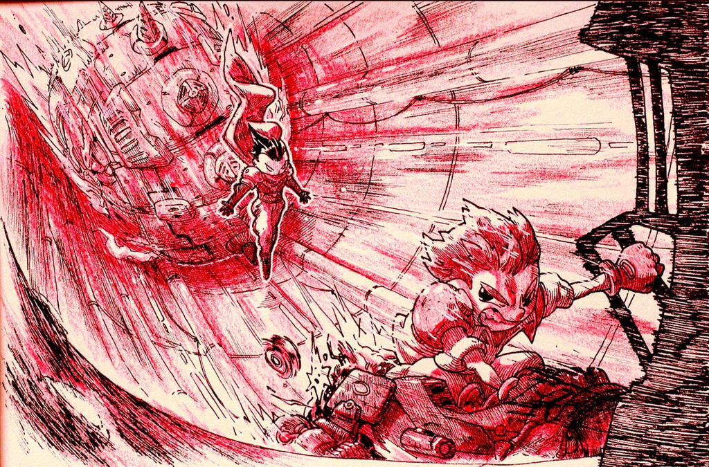 Inktober: Day 22 - Gunstar Heroes by Yaguete
