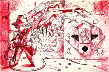 Inktober: Day 23 - Indiana Jones Fate of Atlantis by Yaguete