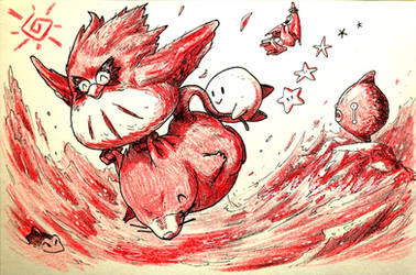 Inktober: Day 25 - Kirby s Dream Land 2