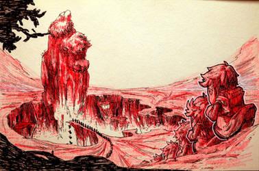 Inktober: Day26 - Lemmings by Yaguete