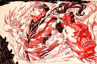 Inktober: Day 31 - Mortal Kombat by Yaguete