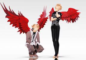 MMD x BNHA: Hawks WIP