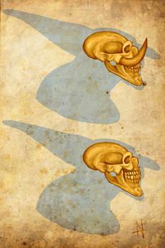 Male Troll Skull