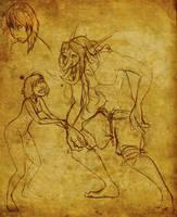 Agnes and Zeb'jil by Anamaris