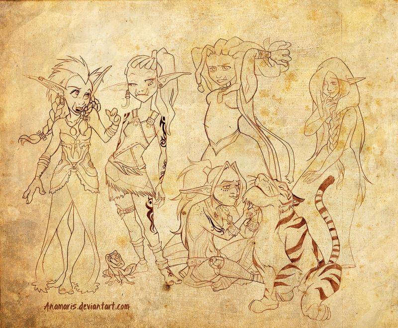 Cyrwrynn's Girls by Anamaris