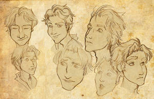 Israfel Facial Study by Anamaris
