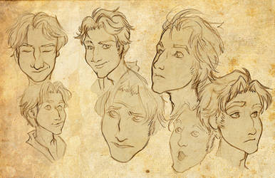 Israfel Facial Study by Anamaris