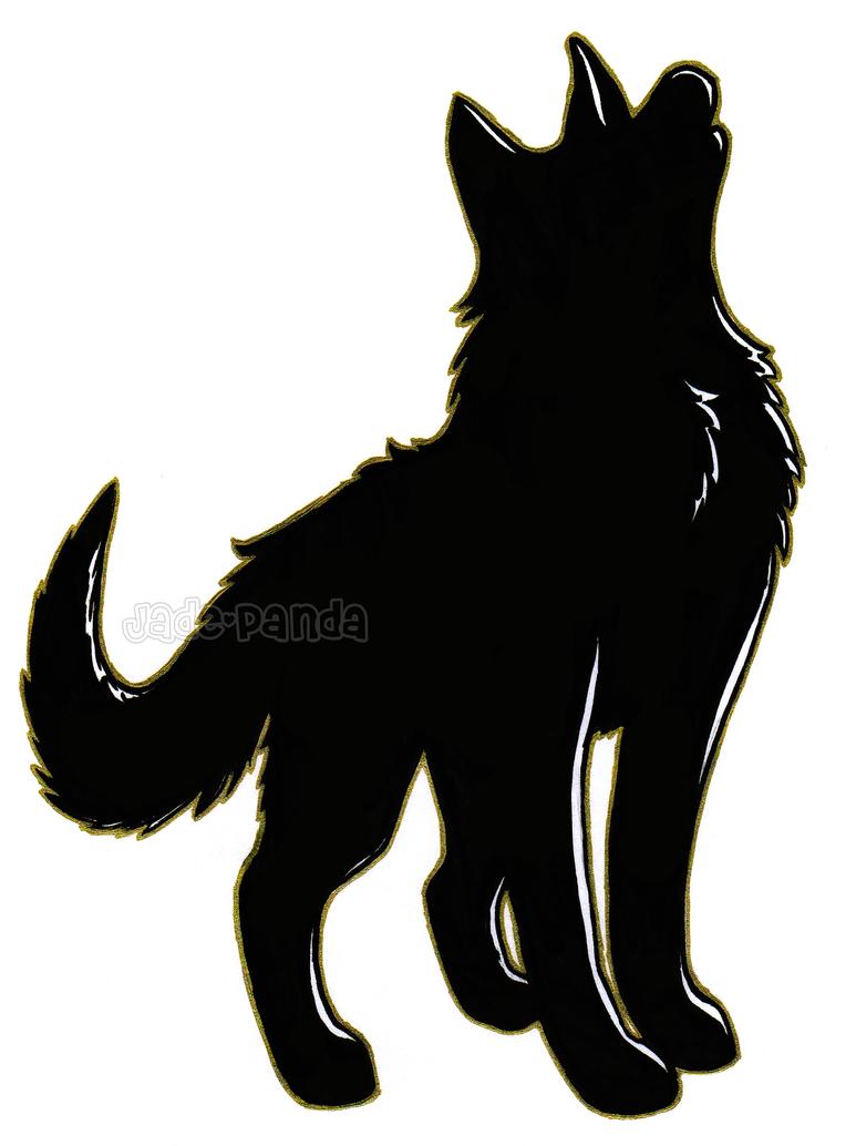 Wolf Silhouette by Jade-Panda on DeviantArt