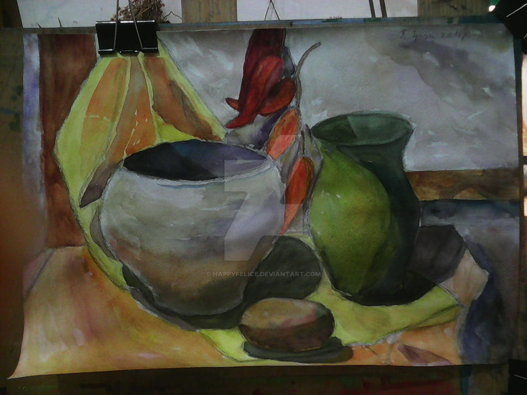 Pepper and  two pots by HappyFelice