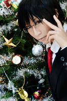 Kyoya - Merry Christmas by kitsunesqueak