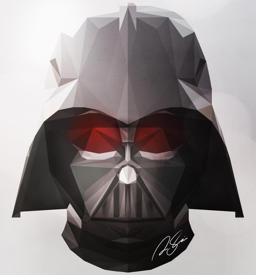 Low Poly Darth Vader Helmet By V E X I