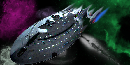 Voyager flying thru space by xXAxE-EfFeCTXx