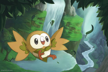 Rowlet by Shemiilayla
