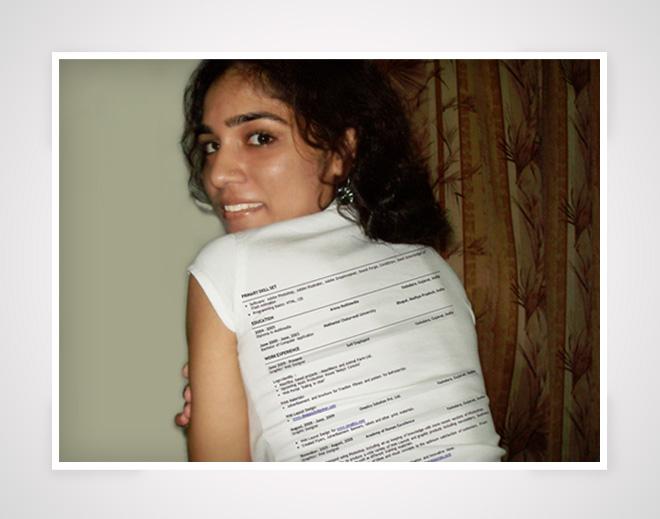 T-shirt Resume by Amita-Gandhi