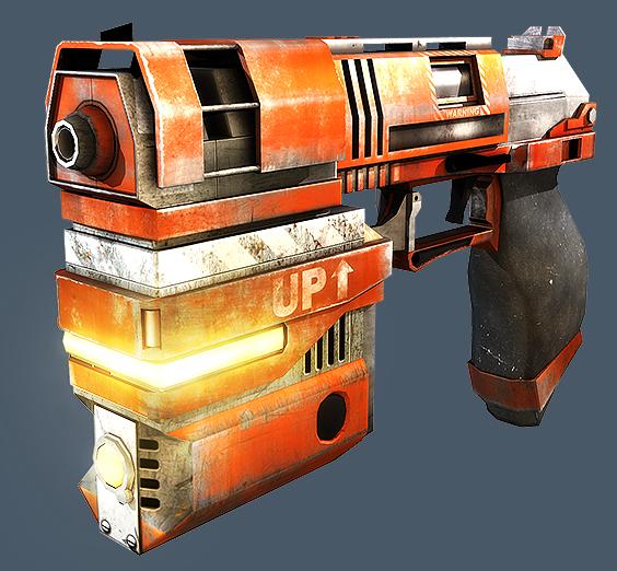 LowPoly Gun by beere