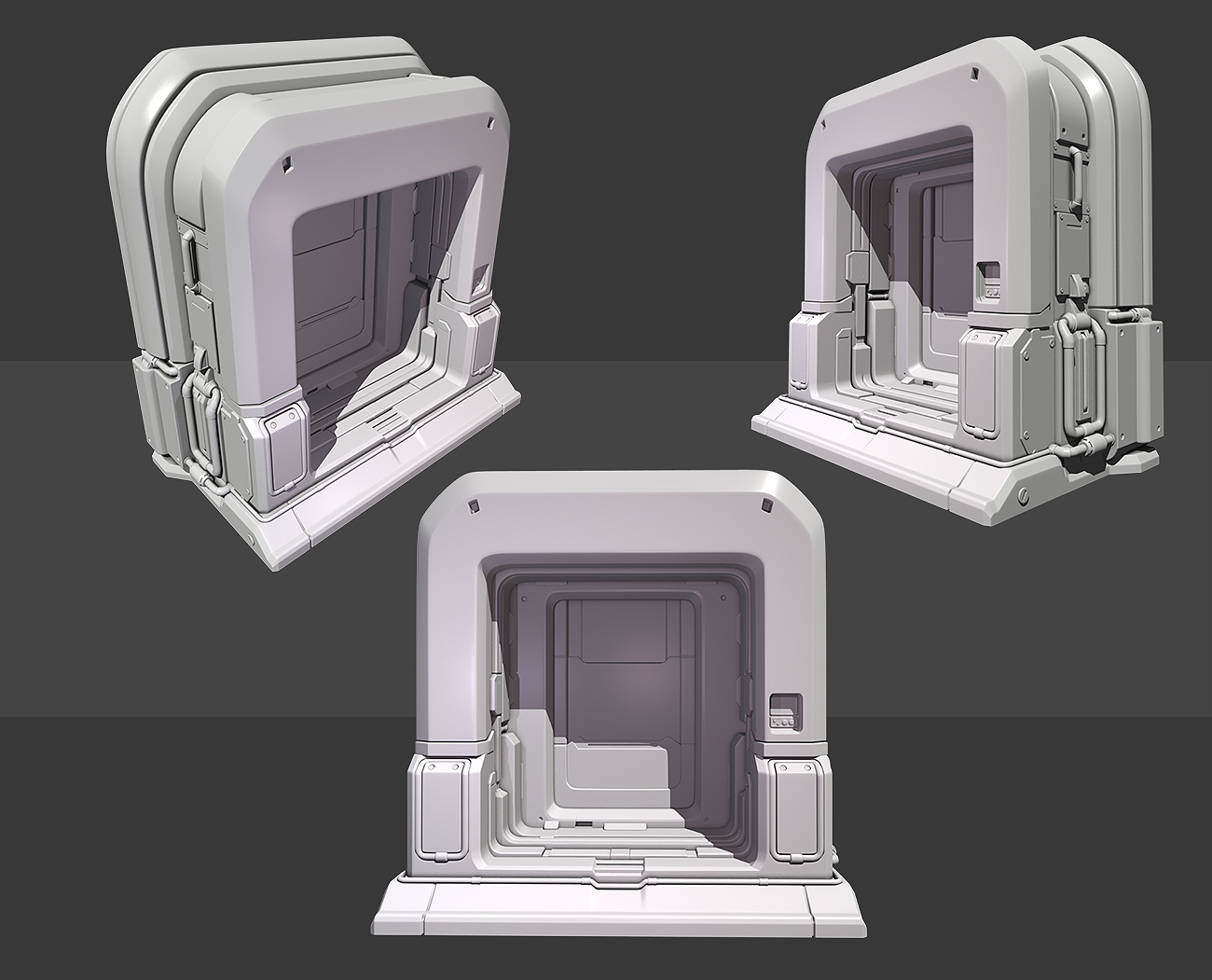 Quake 4 Inspired Door Highpoly by beere