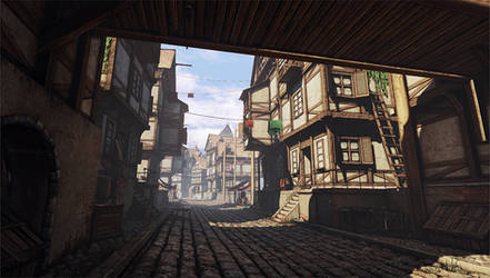 Medieval Town - Back Alley by beere