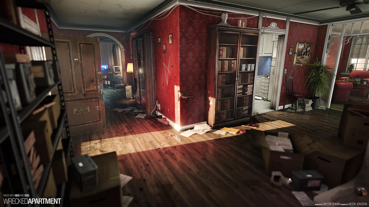 Wrecked Apartment by beere on DeviantArt