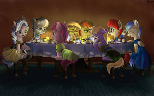 Silver Spoon's Tea Party by Robsa990